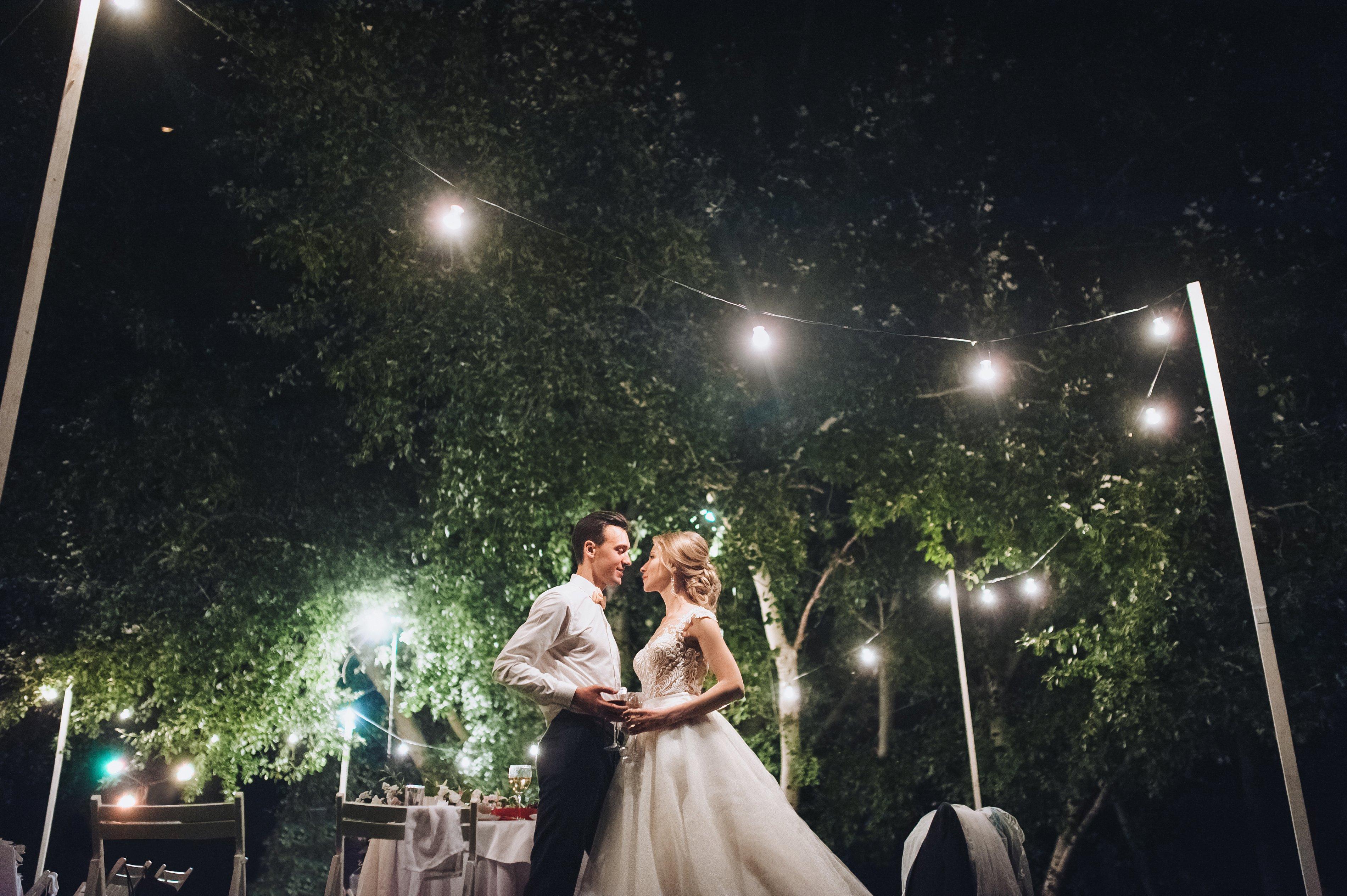Outdoor Wedding - fairylights