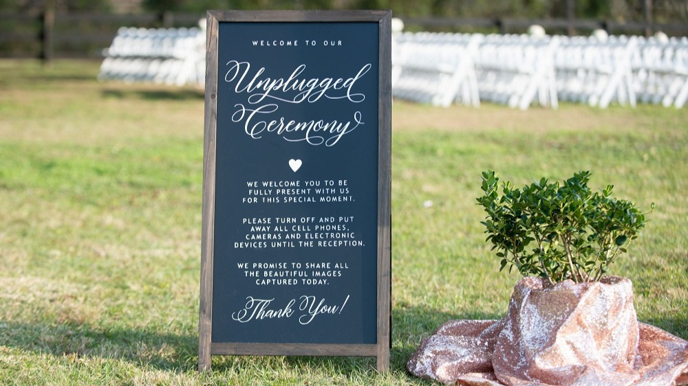 WEB Unplugged Ceremony Sign