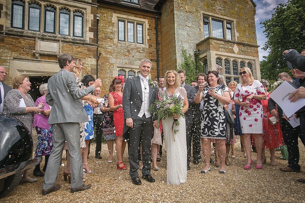 WEB - Highgate House Wedding - Outdoor Couple Confetti ##Photographer - Lee Glasgow##.jpg