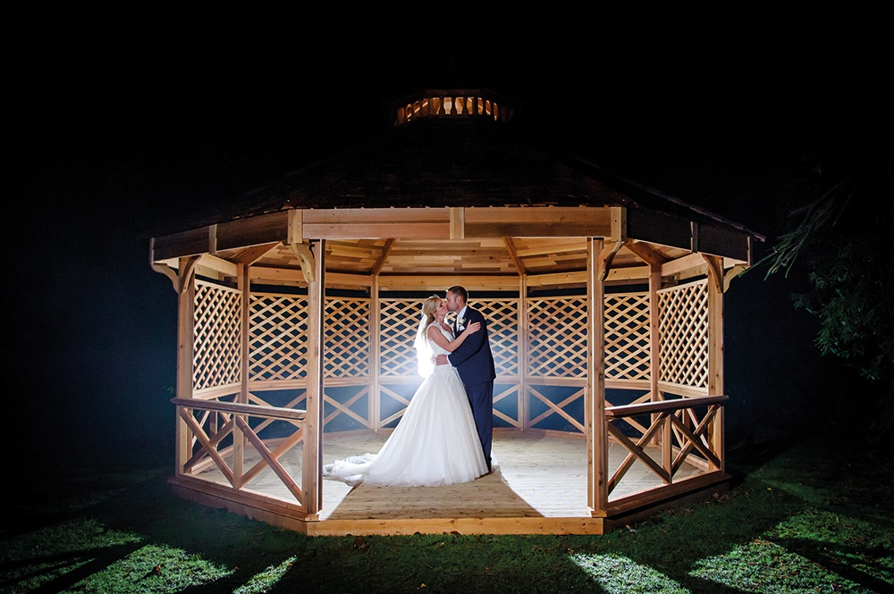 WEB - Woodside Wedding - Gazebo Couple